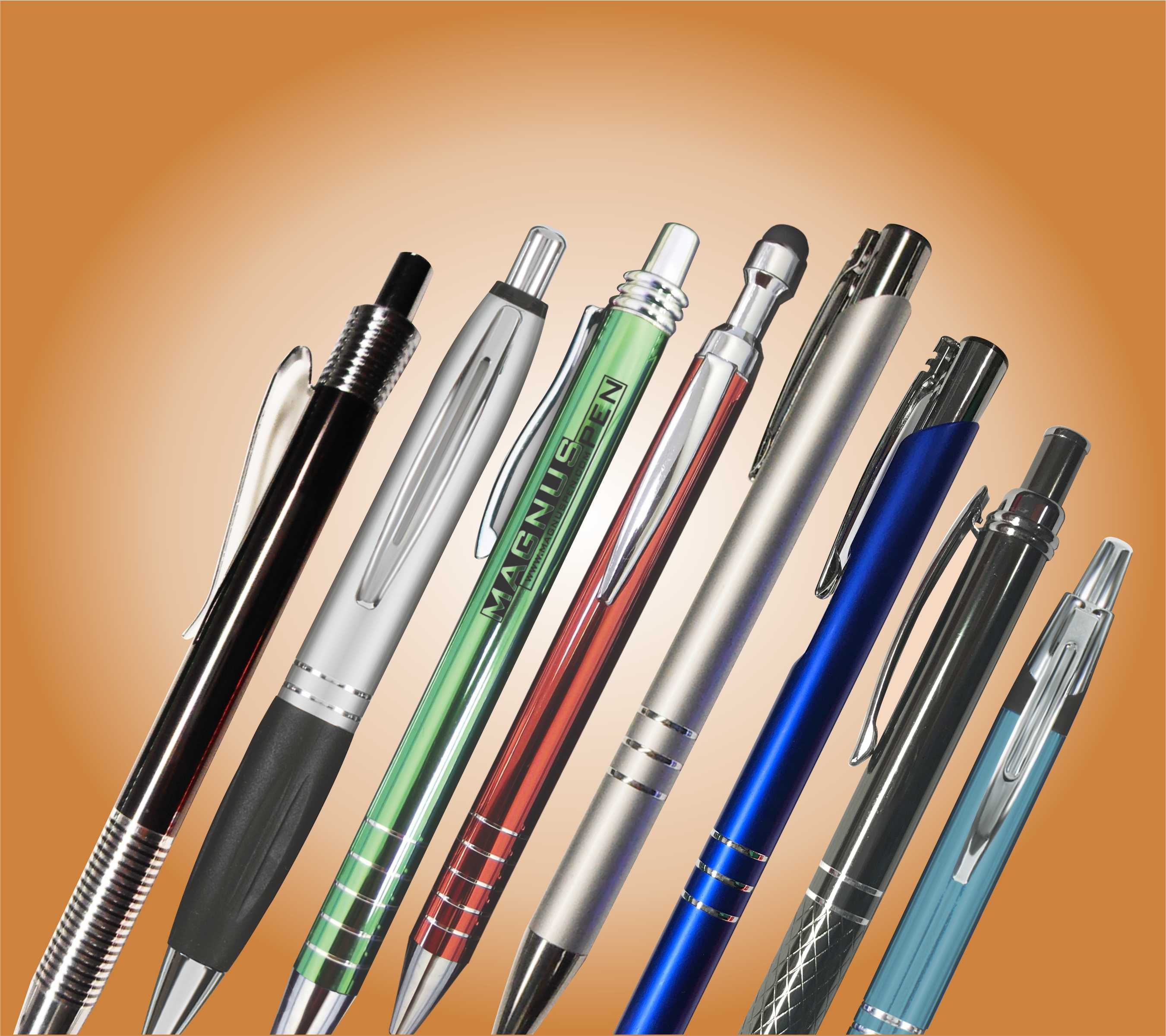 Aluminum Pens are light and easy to use over long periods
